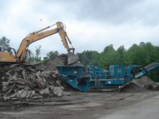 reclaim waste concrete or asphalt paving