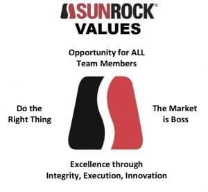 Carolina Sunrock Core Value