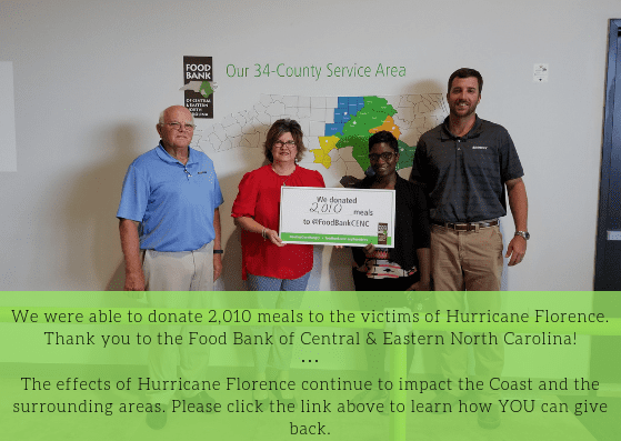 Sunrock partnered with Food Bank of Central & Eastern North Carolina