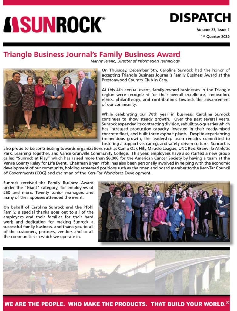 Triangle Business Journal's Family Business Award